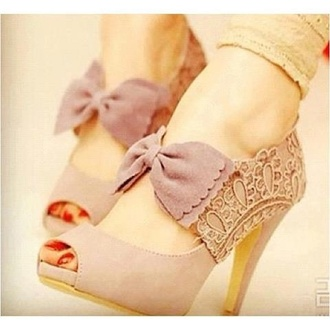 shoes bow heels nude heels lace bag bows high heels purple shoes pink pink heels with strap and bow women shoes pink bow shoes bow shoes