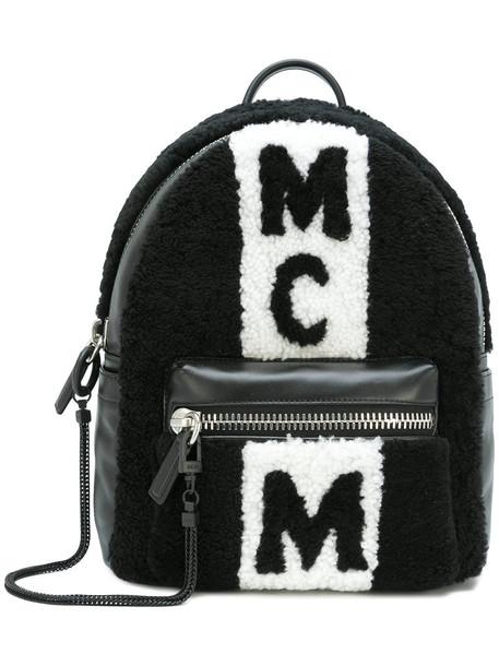 MCM women backpack leather black bag