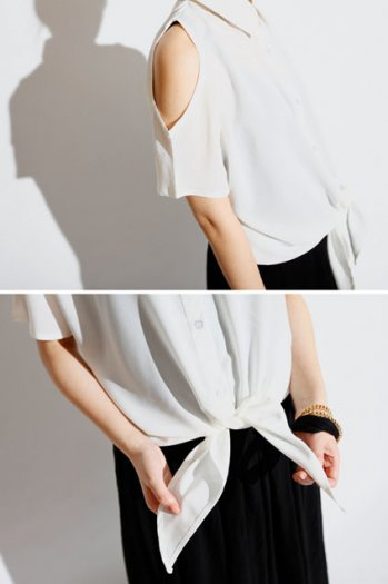 Shoulder white shirt [ncshj0173]