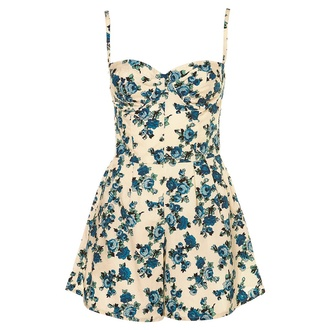 dress floral floral romper floral print jumpsuit vintage lovethis romper ariana grande jumpsuit dungaree thecarriediaries carrie