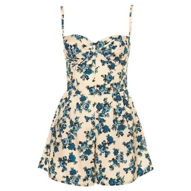 7134c638562 dress floral floral romper floral romper floral print jumpsuit vintage  lovethis romper ariana grande jumpsuit dungaree