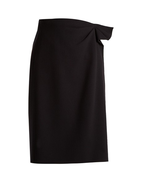 Bottega Veneta skirt pencil skirt wool navy