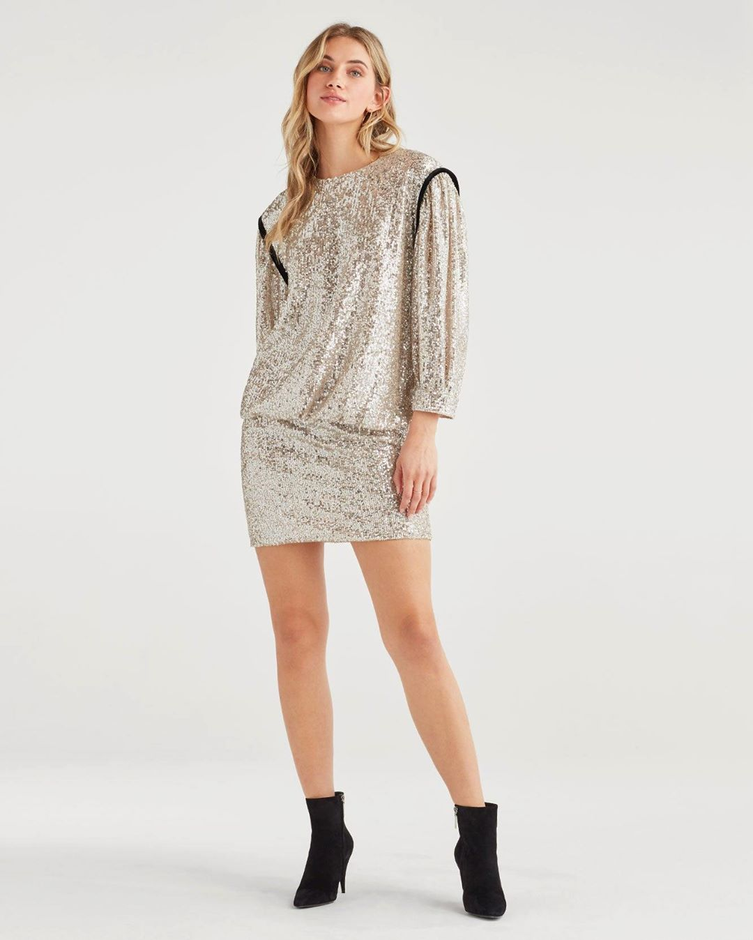Women's Long Sleeve Sequin Dress