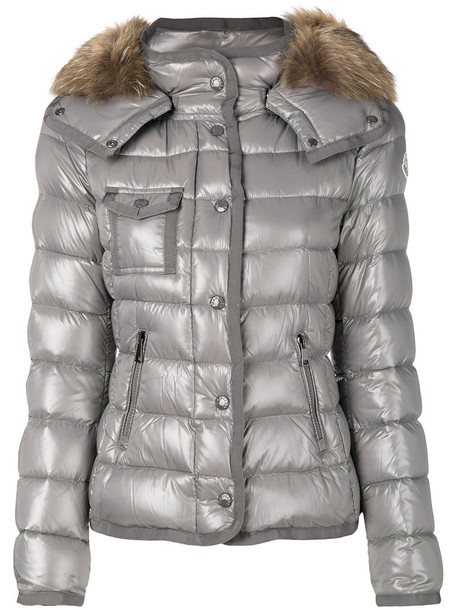 moncler jacket fur women grey