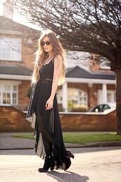 dress,bqueen,fashion,black,chic,elegant,wrap,dip,hem