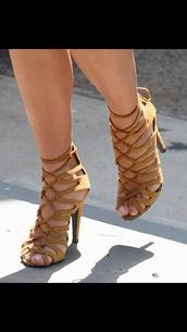 shoes,strappy nude heels hermes,kim kardashian,strappy sandals,nude strappy heels,nude,strappy heels,nude heels,suede,suede pumps,suede shoes,neutral heels