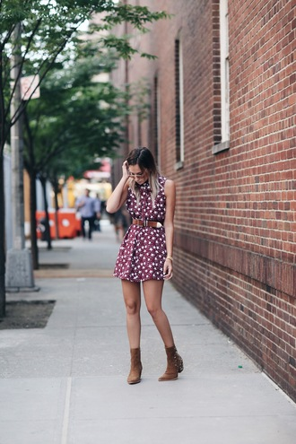 we wore what blogger dress ankle boots suede boots stars
