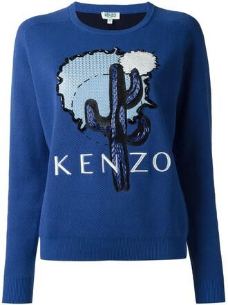 sweatshirt cactus blue sweater