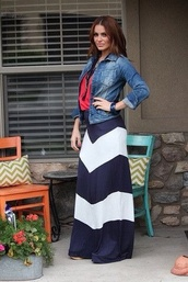 skirt,maxi skirt,chevron