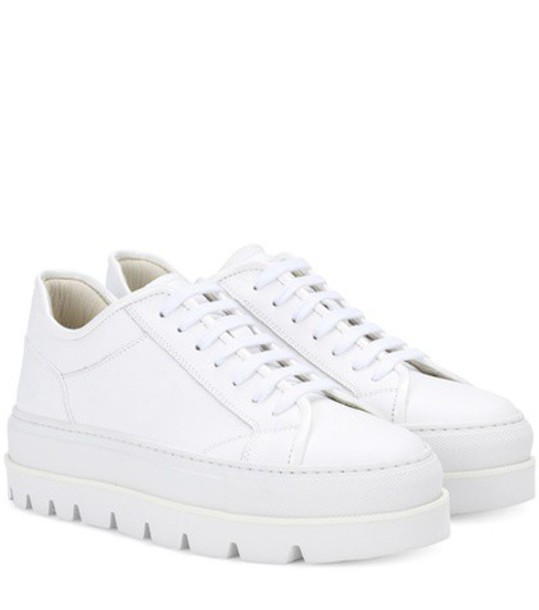Mm6 Maison Margiela sneakers platform sneakers leather white shoes