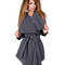 Lady's daily casual cashmere belted wrap coat