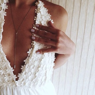 dress halter dress white flowers