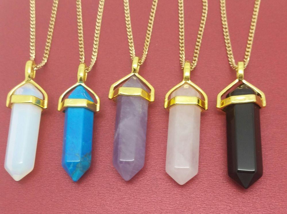 Crystal pendant necklace gold images crystal pendant necklace gold images point necklace gold plated chakra prism healing pendant crystal jpg aloadofball Gallery