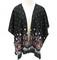 Floral paisley print kimono style cardigan top – pinkracks