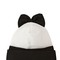 Wool beanie hat with bow
