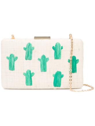 women cactus clutch nude bag