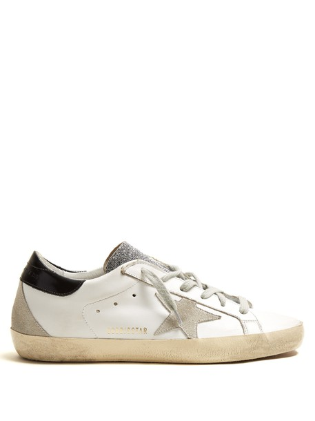 GOLDEN GOOSE DELUXE BRAND top leather navy white