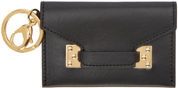 ff06c32414 Sophie Hulme Black Micro Mini Coin Pouch - Wheretoget
