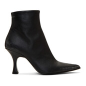 pointed toe boots,black,shoes