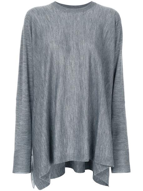 sweater women wool grey