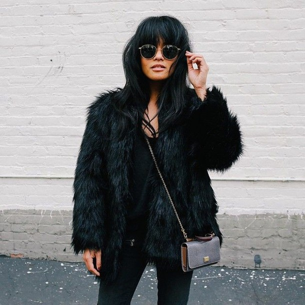 jacket black faux fur fur faux fur coat fur coat fur jacket faux fur jacket