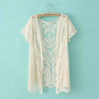 cardigan lace white white lace cream cream lace kimono lace kimono white kimono