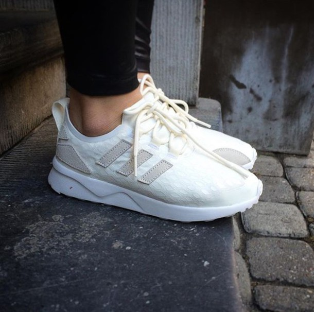 Shoes Chaussures Sneakers Fashion Mode Blanc Blanc Cass Baskets Sneakers Addict Adidas