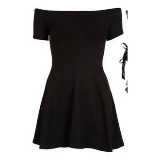 dress black black dress goth gothic shoulder dress off the shoulder dress