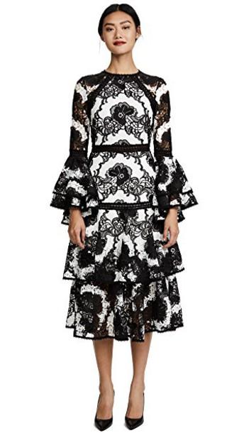 Alexis dress white black