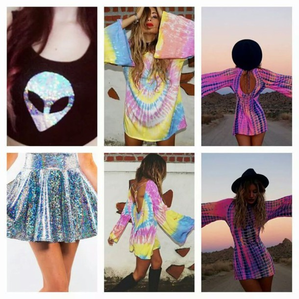 dress tie dye dress tie dye alien