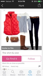 jacket,vest,red,shirt,stripes,navy,white