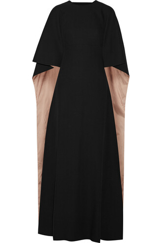 gown back silk black dress