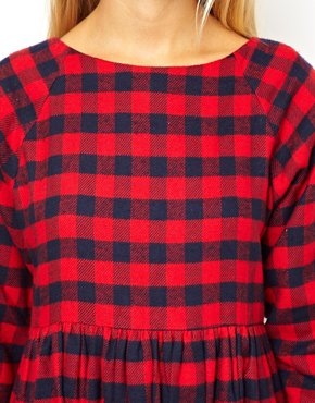 ASOS Petite | ASOS PETITE Exclusive Check Oversize Smock Dress at ASOS