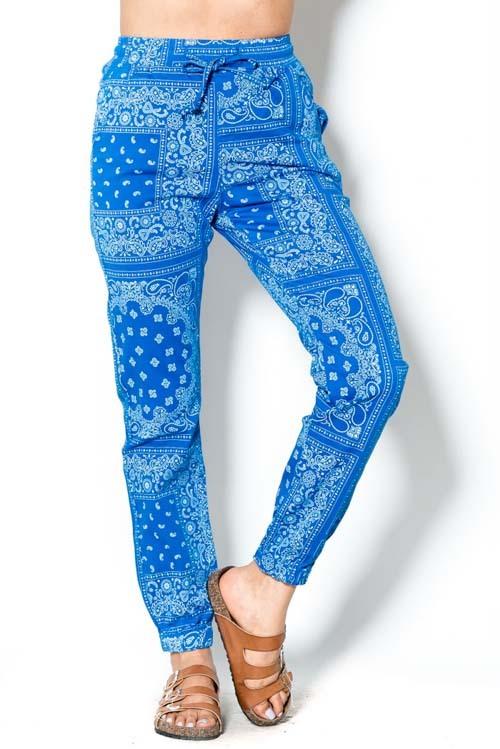 Bandana print jogger pants
