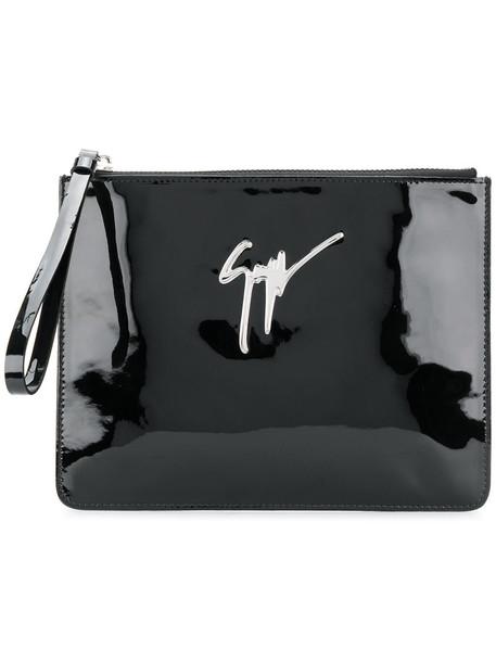 GIUSEPPE ZANOTTI DESIGN women classic clutch leather black bag