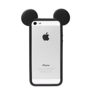 Amazon.com: deco fairy® lovely animal black ears silicone tpu bumper for apple iphone 5 / 5s