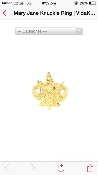 jewels weed ring