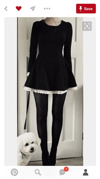 dress black ruffle white grunge goth cats pink pastel grunge girly winter outfits