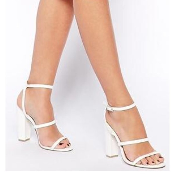 Shoes Sandals Heels Strappy Block Block Heels