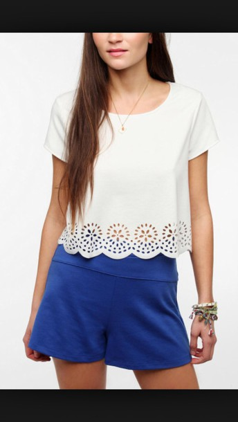 shirt white crop tops