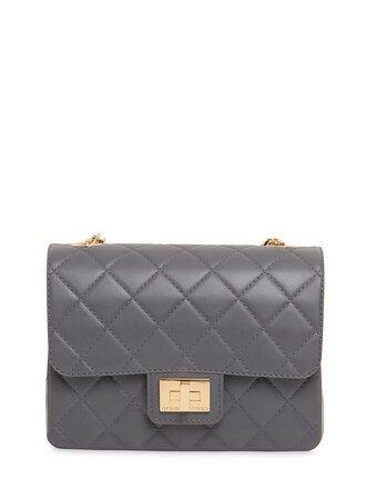 quilted bag shoulder bag dark grey