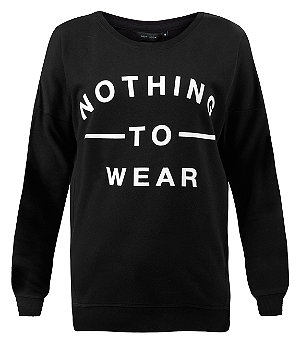 Black nothing to wear long sleeve sweater