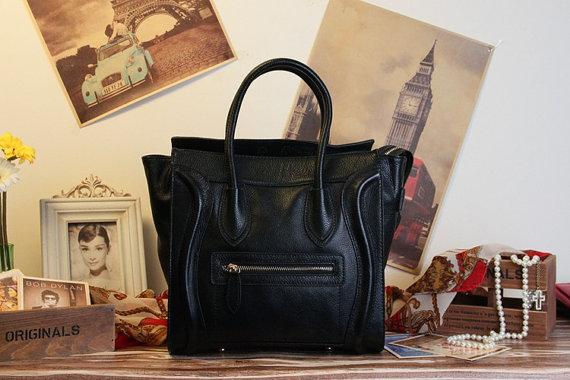 Leather tote bagipad bag  shoulder bag  leather satchel by newbag