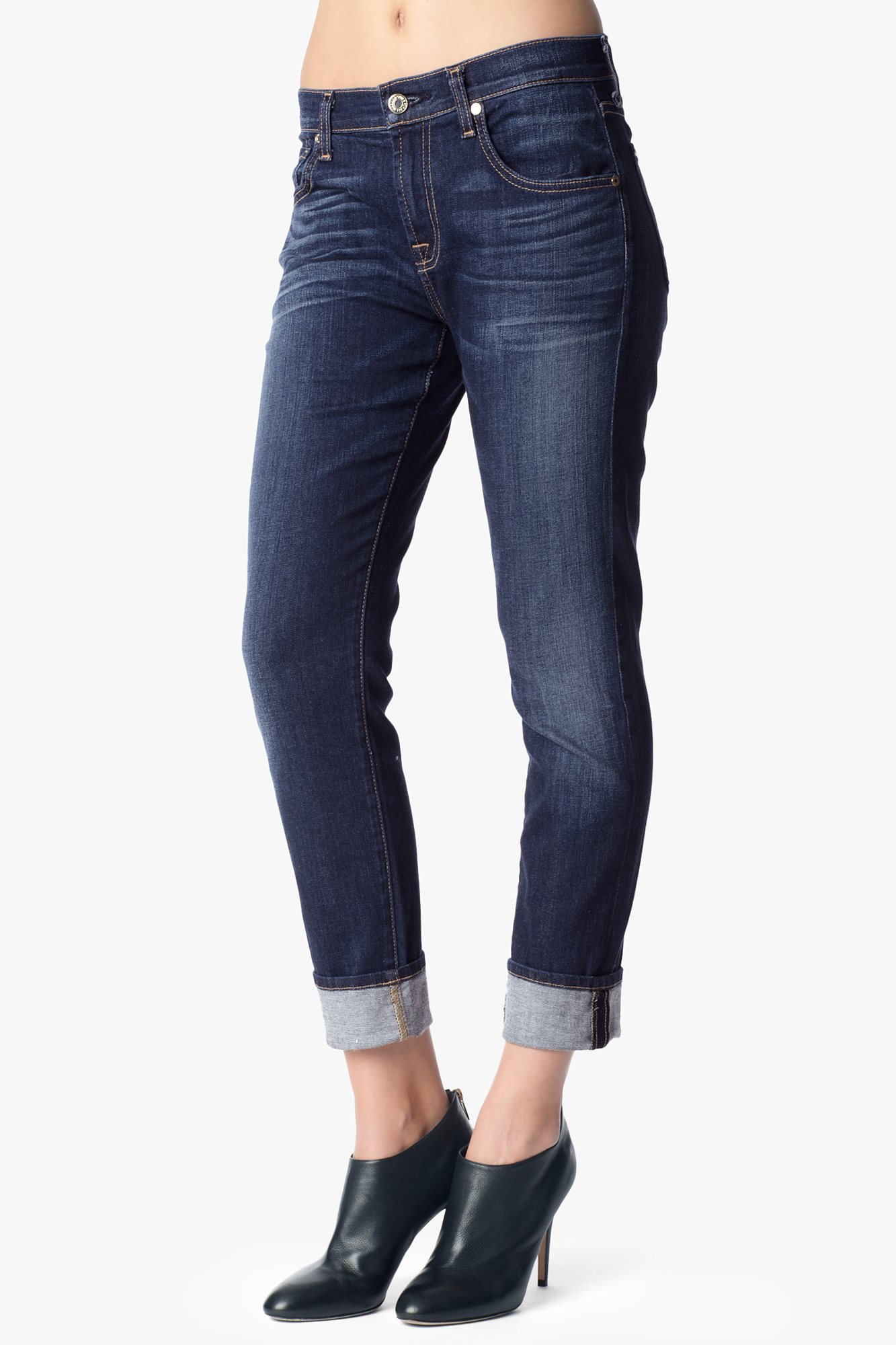 Relaxed Skinny In Genuine Medium Indigo | 7 For All Mankind