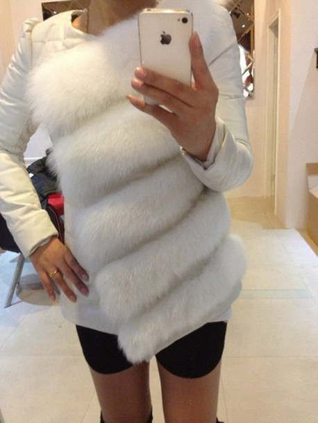 jacket coat fake fur jacket faux fur vest