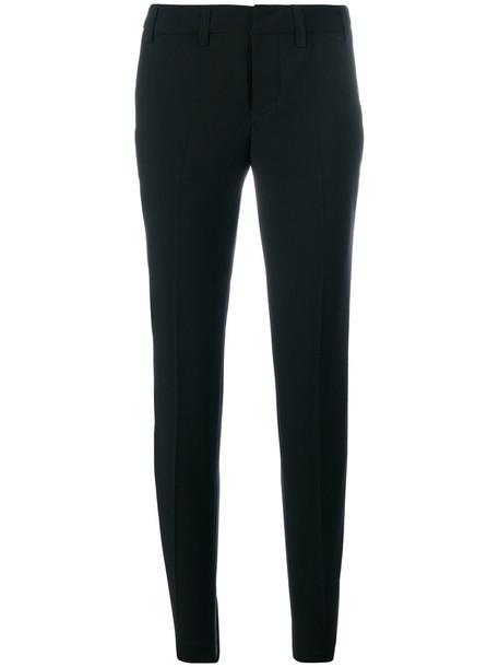 Zadig & Voltaire women cotton black wool pants