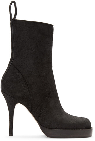boot suede black shoes