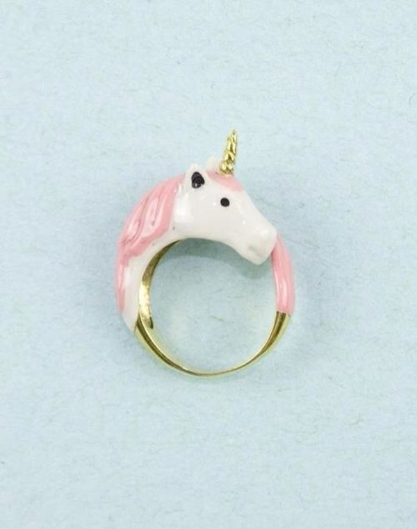 jewels ring unicorn pink blogger boho cute floral girly grunge hippie hipster instagram kawaii rainbow summer tumblr vintage pink unicorn accessories pink unicorn onesies white unicorn ring pink ring horse ring yaass lovely nail accessories gold gold ring