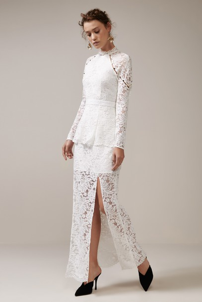 Keepsake gown lace dress