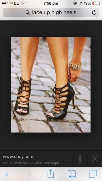 shoes lace up high heels